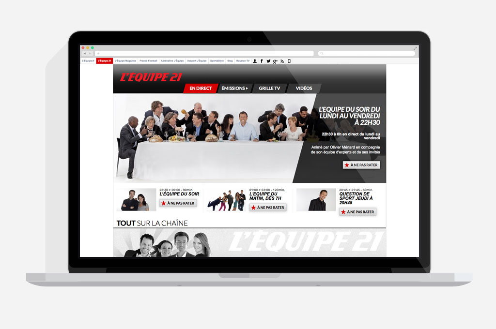 Site Web Media Lequipe 21